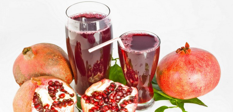 With Fresh Pomegranate Juice – Fresh and Healthy – You!