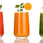 Detox Juices in the Colors of Traffic Light
