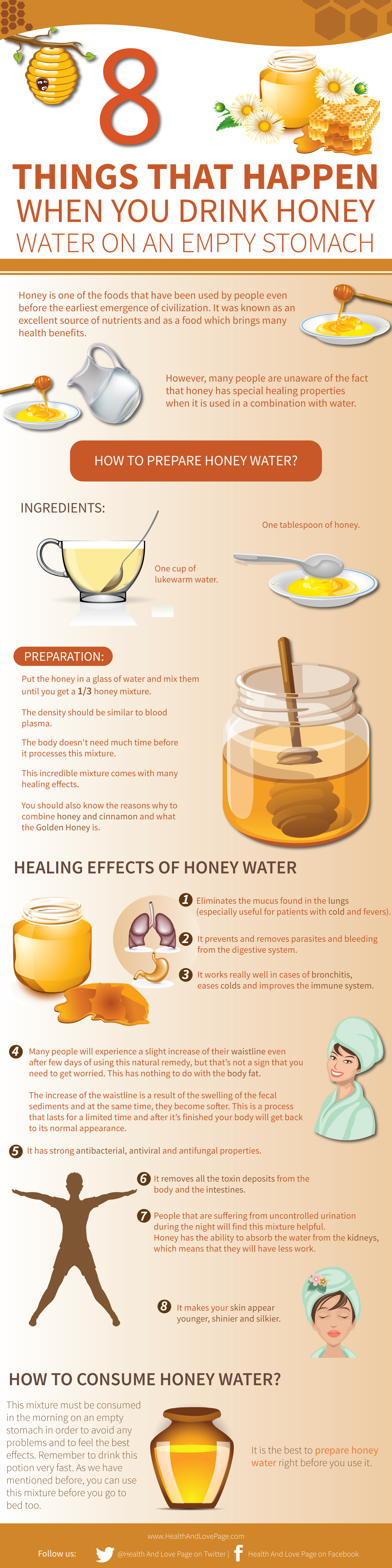 8 Things That Happen When You Drink Honey Water INFOGRAPHIC
