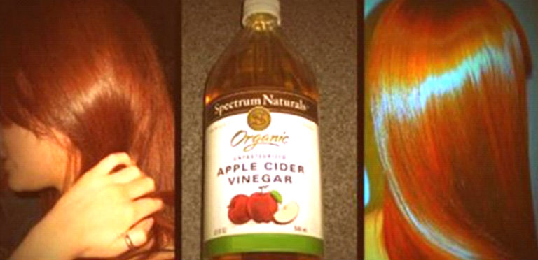 Wash The Hair With Apple Cider Vinegar