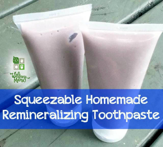 Squeezable Homemade Remineralizing Toothpate