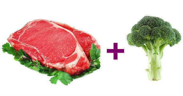 Broccoli and lean beef