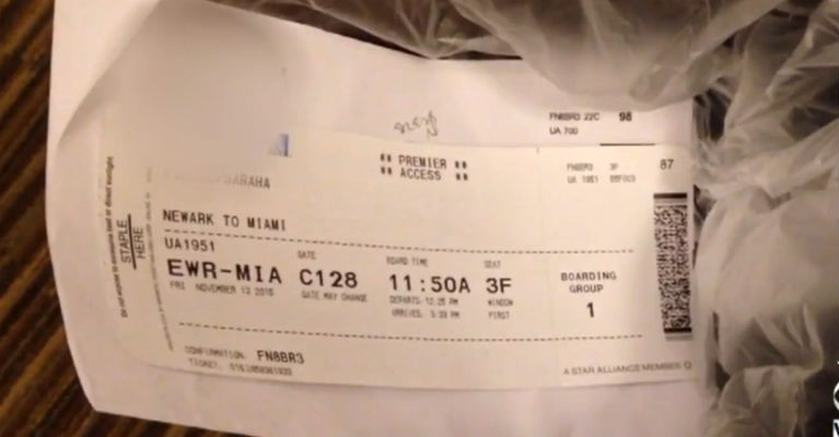 Never Throw Aaway Your Boarding Pass