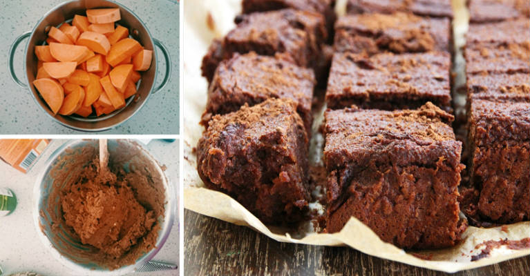 5-Ingredient Anti-Inflammatory Sweet Potato Brownies With Almond Butter, Cocoa, And Maple Syrup