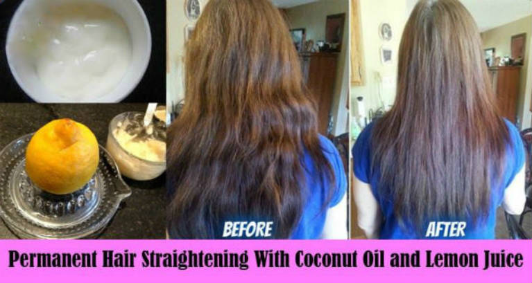 Fast and Easy Permanent Hair Straightening Using Coconut Milk and Lemon (Video)