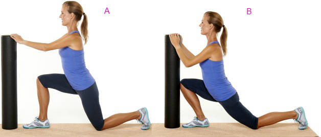 Three Point Half-Kneeling Flexibility Exercise
