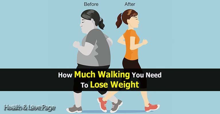 Losing weight by walking on a treadmill