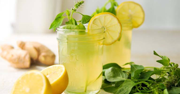 Honey Ginger Lemonade Drink to Treat Colds and Soothe a Sore Throat