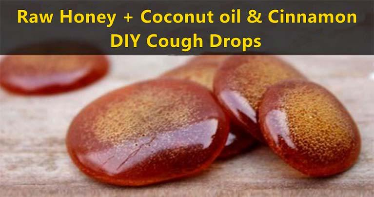 Raw Honey+Coconut Oil & Cinnamon-DIY Cough Drops That Will Save You A Trip To The Doctor