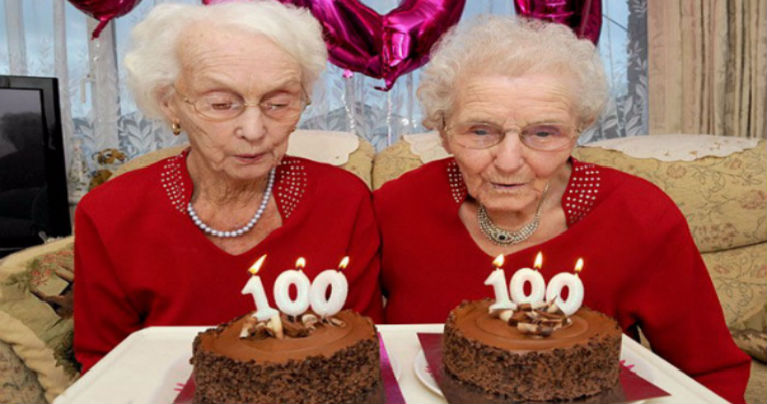 Twin Sisters Reveal The Secret to Long Life on Their 100th Birthday